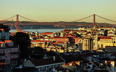 Photograph - Lisbon At Sunrise - Poster Edges by Helissa Grundemann