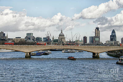 Photograph - Cityscape Of London With Thames River by Patricia Hofmeester