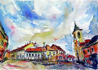 Painting - Cityscape Of Szentendre by Kovacs Anna Brigitta