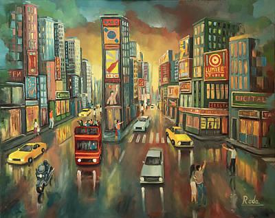 Painting - Cityscape by Radoslav Nedelchev