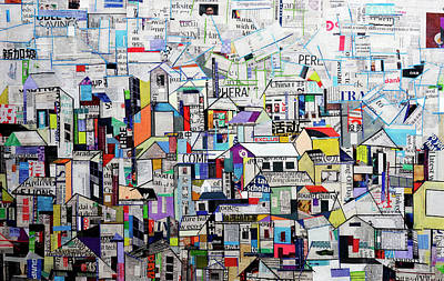 Painting - Cityscape by Ronex Ahimbisibwe