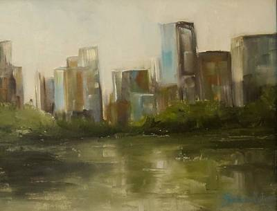 Painting - Cityscape by Sandra Reeves