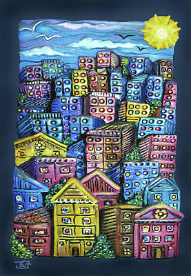 Mixed Media - Cityscape Sculpture by Jean Batzell Fitzgerald