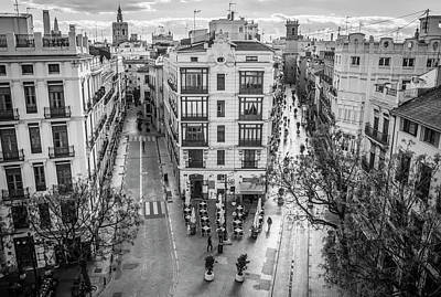 Photograph - Cityscape Valencia Spain by Joan Carroll