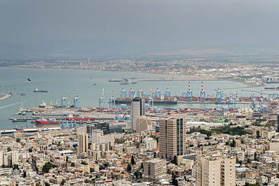 Photograph - Cityscape View Of Haifa, Israel by Alexandre Rotenberg