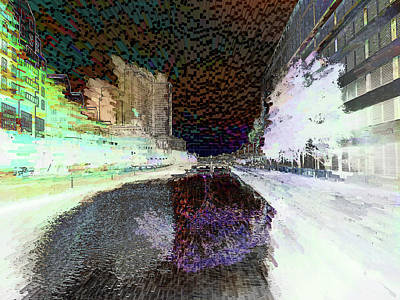 Digital Art - Cityscapes Abstract  by Cathy Anderson