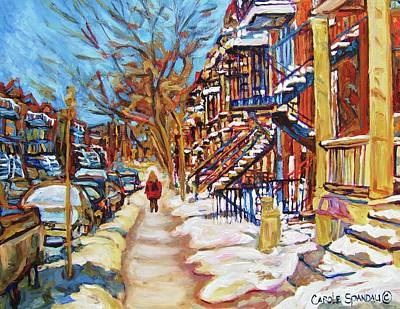 Painting - Cityscene In Winter by Carole Spandau