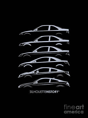 Civil Coupe Silhouettehistory Art Print by Gabor Vida