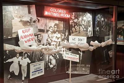 Civil Rights Movement Exhibit Art Print by Inga Spence