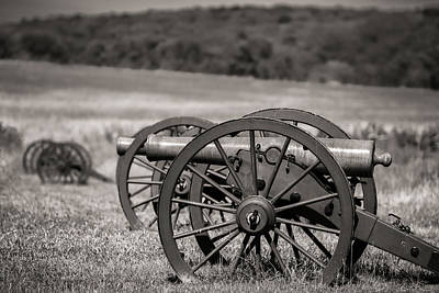Photograph - Civil War Artillery In Sepia by James Barber