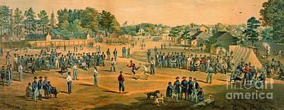 Art Lithographs Photograph - Civil War Baseball 1863 by Padre Art