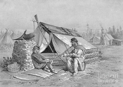 Photograph - Civil War, Camp.  by Granger