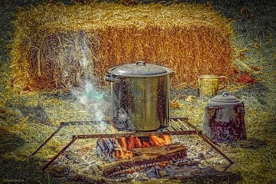Photograph - Civil War Campfire by LeeAnn McLaneGoetz McLaneGoetzStudioLLCcom
