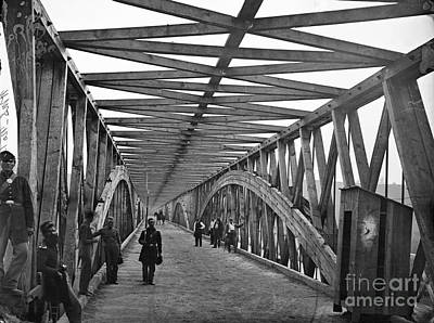 Photograph - Civil War: Chain Bridge by Granger