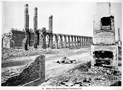 Barnard Photograph - Civil War: Charleston Ruins by Granger