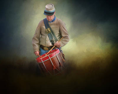 Photograph - Civil War Drummer Boy by David and Carol Kelly