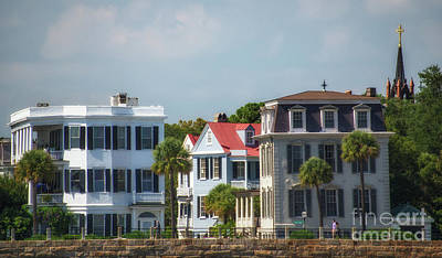 Photograph - Civil War Era Battery Homes In Charleston  by Dale Powell