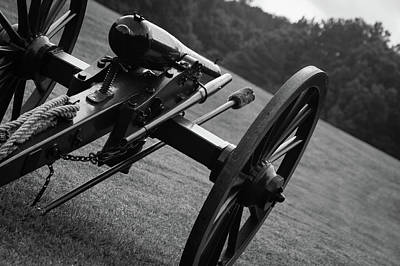 Photograph - Civil War Era Cannon Angled by Doug Camara