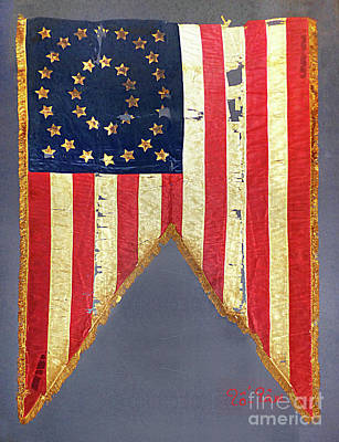 Civil War Flag With 35-stars Original
