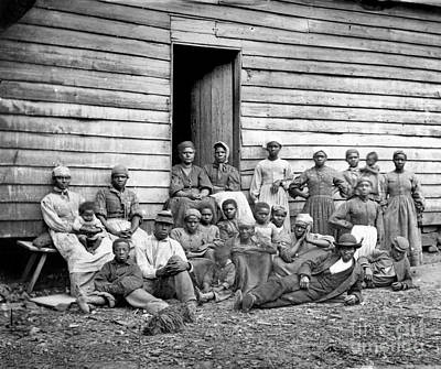Photograph - Civil War: Freed Slaves by Granger