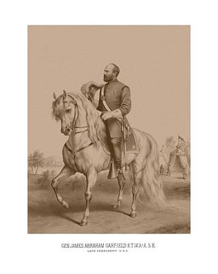 United States Mixed Media - Civil War General James Garfield by War Is Hell Store