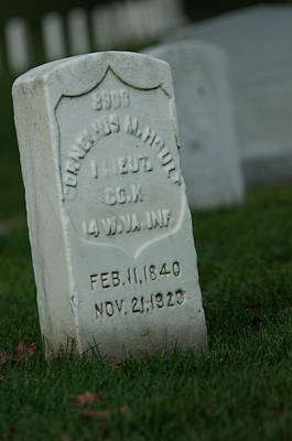 Photograph -  Civil War Gravestone by Brian Green