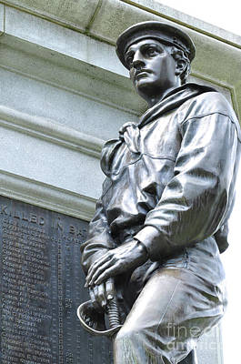 Photograph - Civil War Memorial - Fitchburg, Ma by Staci Bigelow