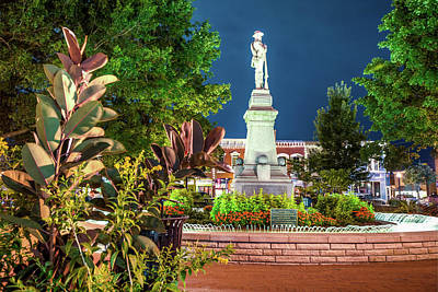 Photograph - Civil War Memories - Downtown Bentonville Square by Gregory Ballos