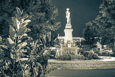 Photograph - Civil War Memories - Downtown Bentonville Square - Sepia by Gregory Ballos