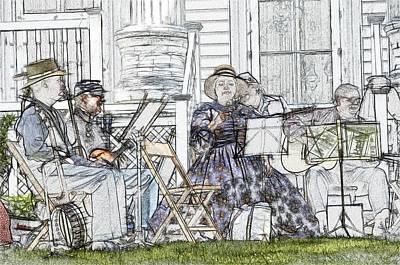 Musicians Royalty Free Images - Civil War Musicians Royalty-Free Image by Robert Nelson