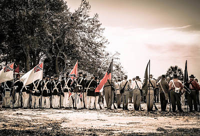 Photograph - Civil War Reenactment  by Debra Forand