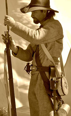 Photograph - Civil War Soldier by Rose  Hill