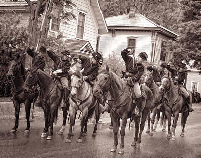 Civil War Soldiers On Horses Art Print by Rena Trepanier