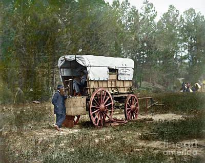 Photograph - Civil War Telegraph by Granger