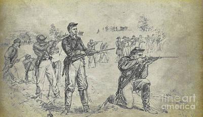 Civil War Union Cavalry Troopers Art Print