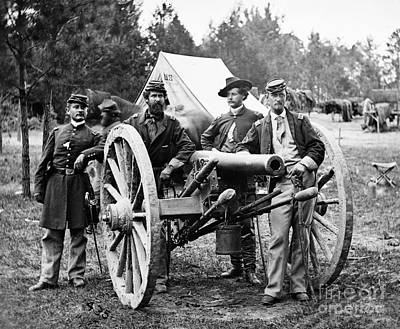John Tidball Photograph - Civil War: Union Officers by Granger