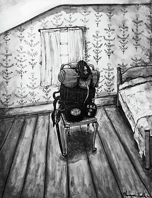 Mixed Media - Rhode Island Civil War, Vacant Chair by Monique Faella