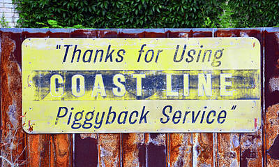 Photograph - Coast Line Rail Sign by David Lee Thompson