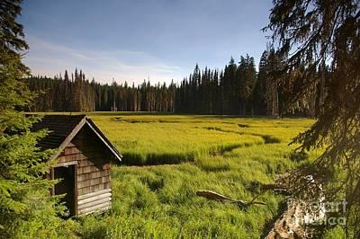 Photograph - Clackamas Meadow Pump House- 2 by Rick Bures