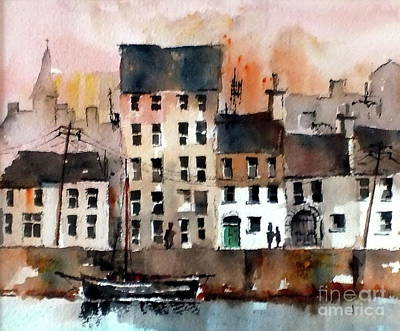 Painting - Cladagh Harbour Galway Citie by Val Byrne