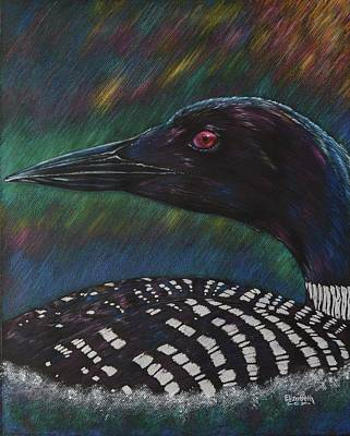 Loon Mixed Media - Clair De Lune by Elizabeth Cox