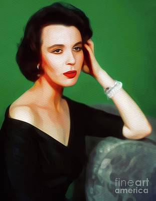 Royalty-Free and Rights-Managed Images - Claire Bloom, Vintage Movie Star by Esoterica Art Agency