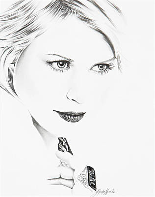 Drawing - Claire Danes by Jeleata Nicole