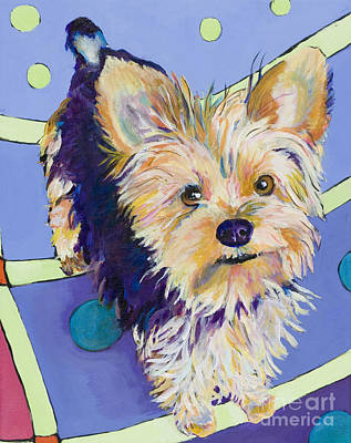 Colorful Dog Painting - Claire by Pat Saunders-White