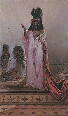 Clairin Georges Jules Victor Harem Woman Art Print by Georges Jules Victor Clairin