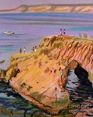 Painting - Clam Rock Evening by Donald Maier