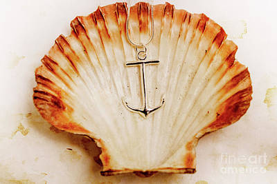 Clam Shell And Naval Anchor Art Print by Jorgo Photography - Wall Art Gallery
