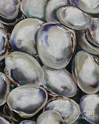 Painting - Clam Shells by Kristine Kainer