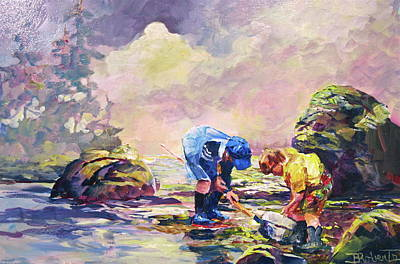 Painting - Clamdiggers by Bonny Roberts