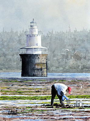 Painting - Clamming In Lubec by Bill Hudson